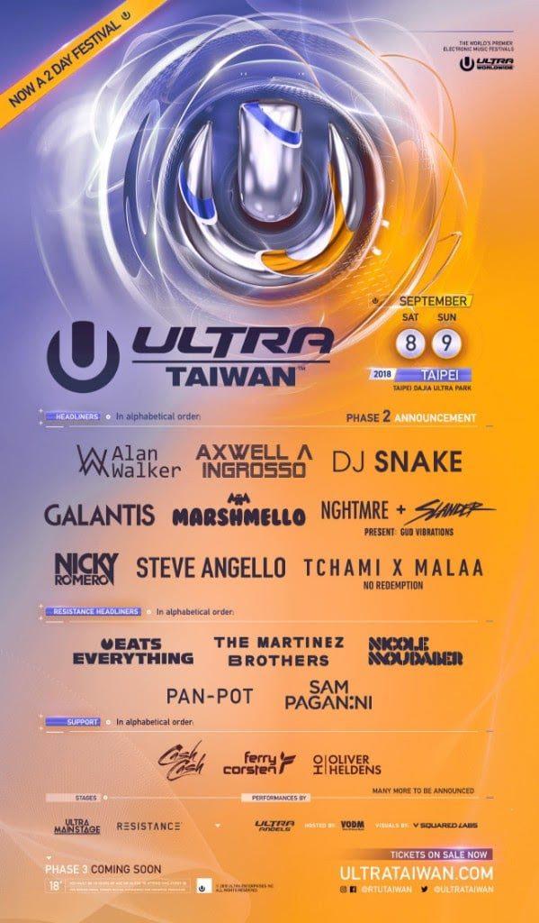 ULTRA Taiwan lineup