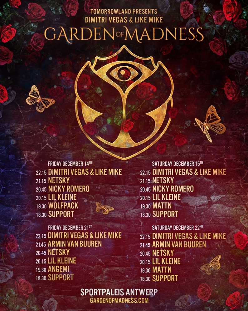 Garden of Madness line-up