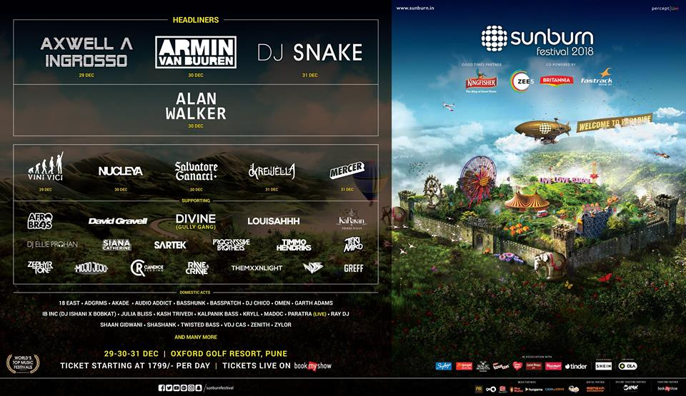 Sunburn Festival 2018 lineup