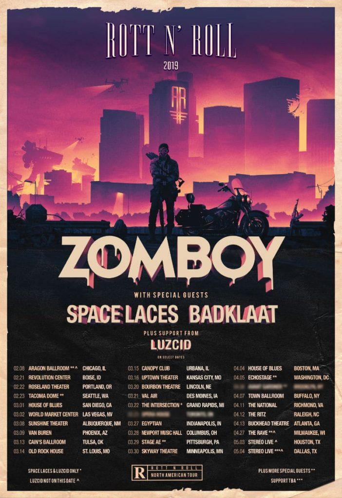 zomboy rott n roll tour dates