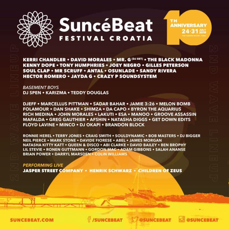 SunceBeat Festival 2019 lineup