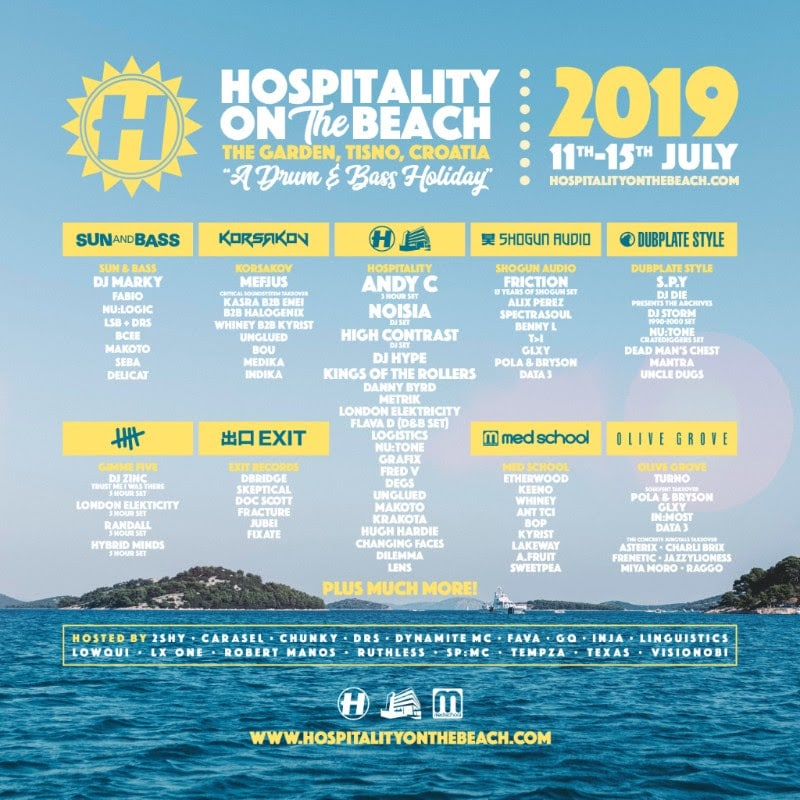 Hospitality On The Beach 2019 lineup