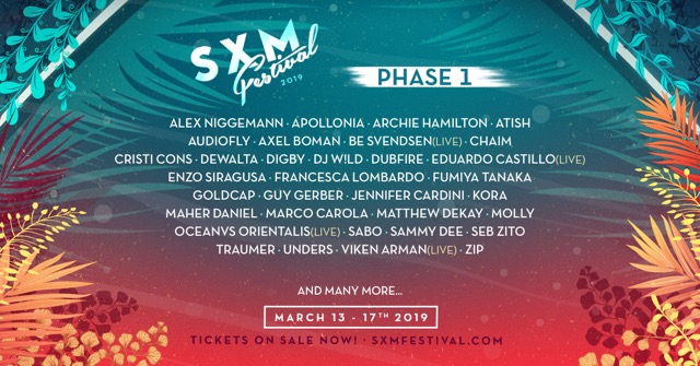 sxm festival 2019 lineup
