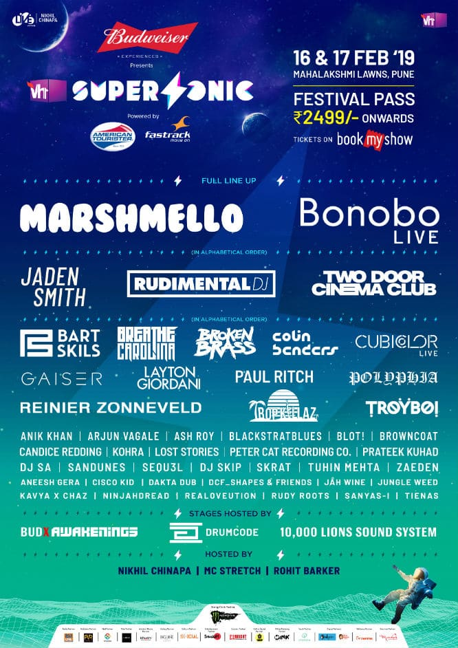 vh1 supersonic pune 2019 lineup