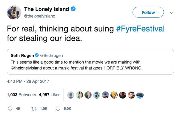fyre festival seth rogen