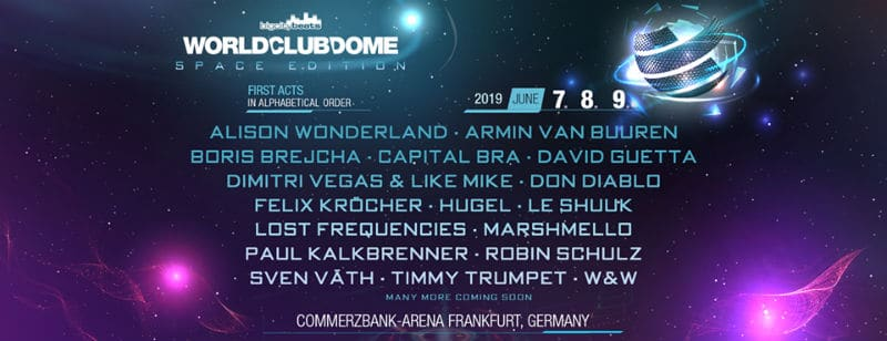 WORLD CLUB DOME 2019 lineup - artists