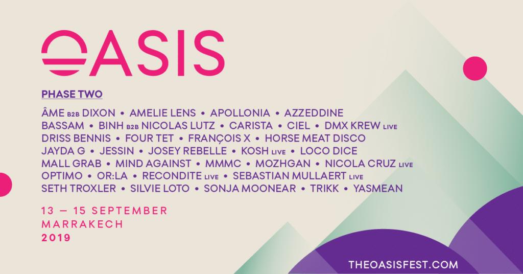 Oasis Festival 2019 lineup