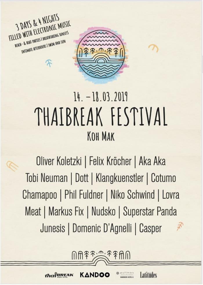 Thaibreak Festival 2019 lineup
