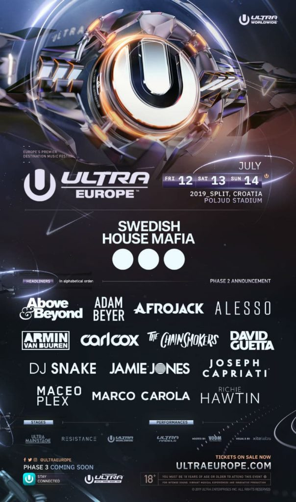 Ultra Europe 2019 tickets