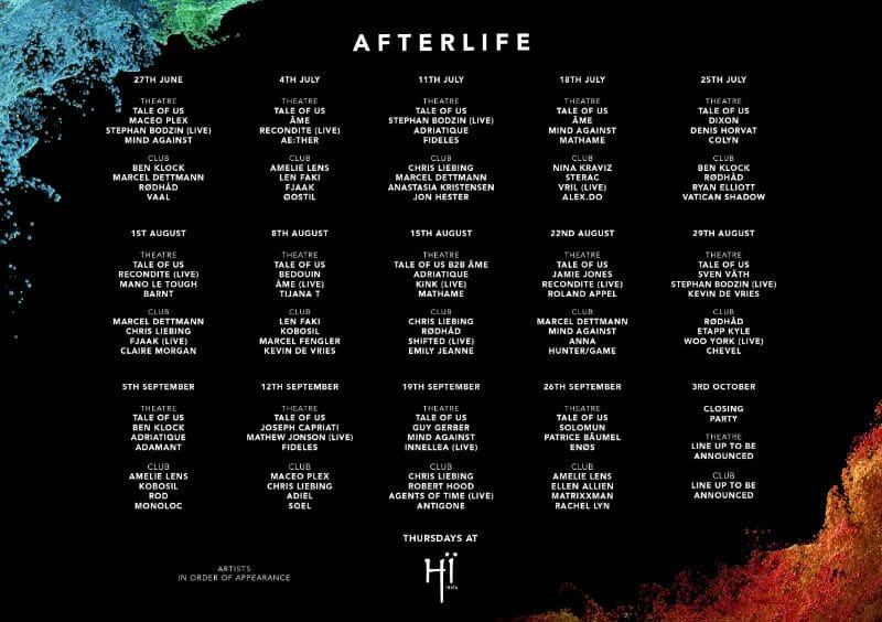 afterlife hi ibiza 2019 lineup