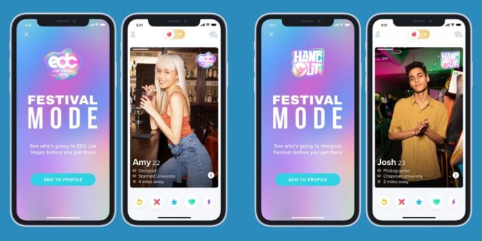 Tinder Festival Mode