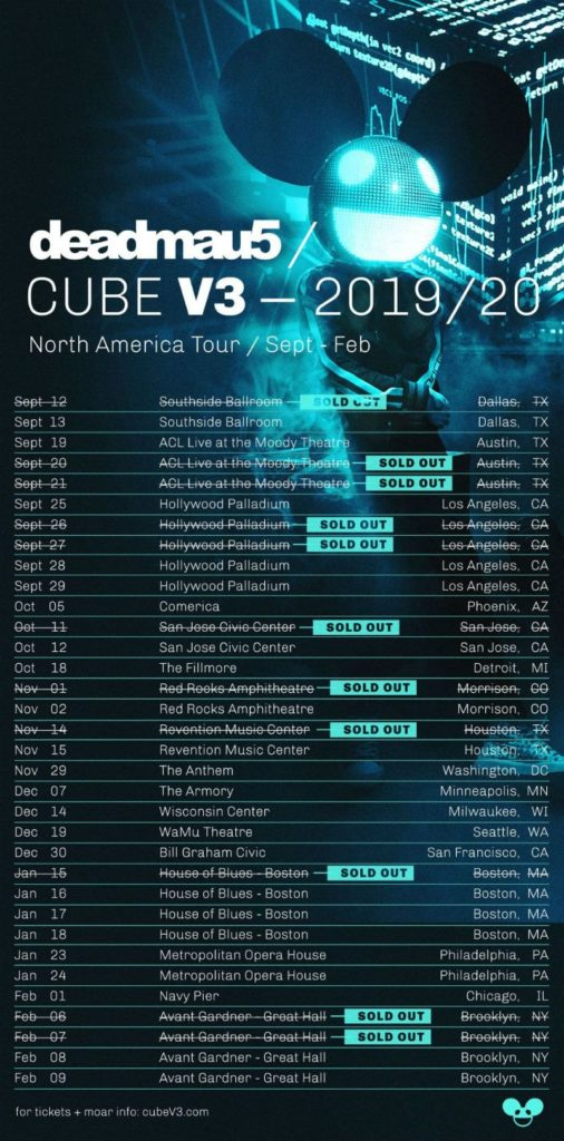 deadmau5 cube v3 tour dates