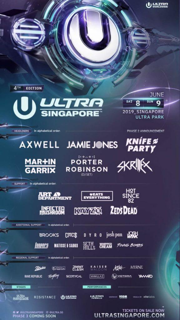 ultra singapore lineup 2019