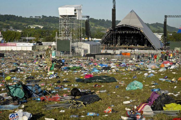 music festivals plastic