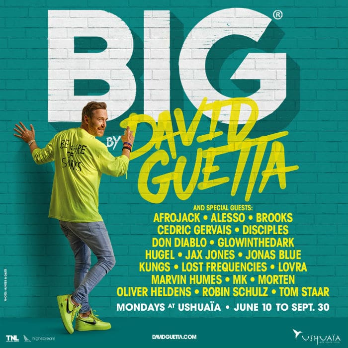 ushuaia ibiza david guetta big residency lineup 2019