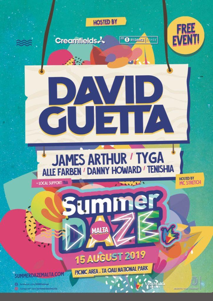 david guetta summer daze malta 2019