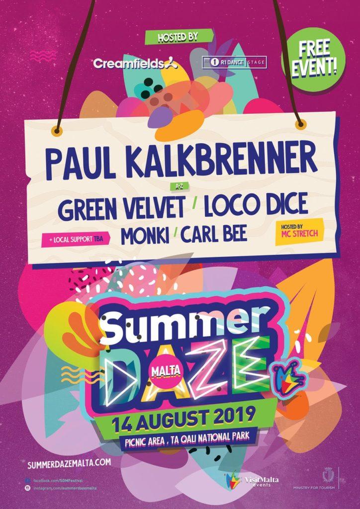 Paul Kalkbrenner summer daze malta 2019
