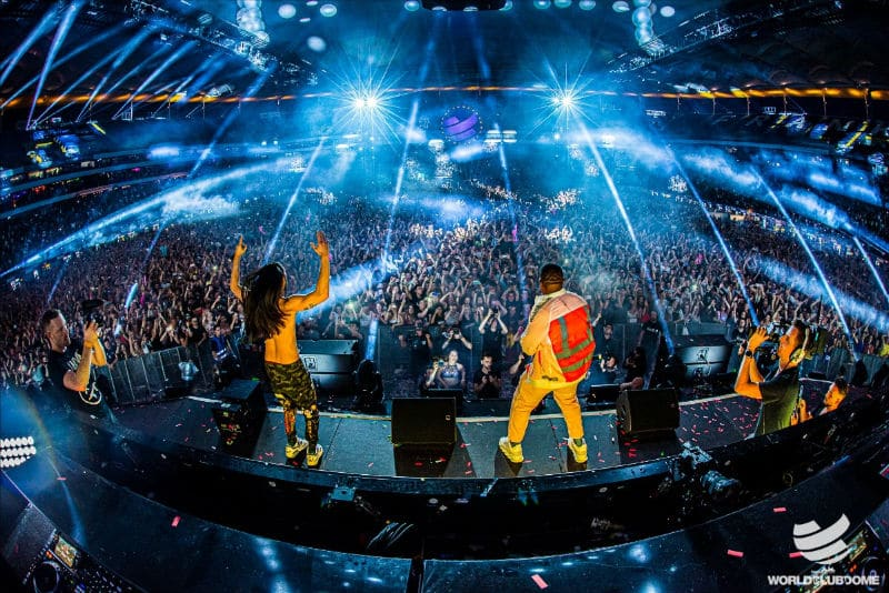 Steve Aoki and Timbaland At World Club Dome 2019