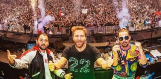 david guetta instagram with Dimitri Vegas & Like Mike