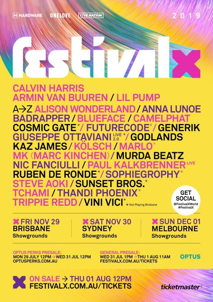 festival x 2019 lineup australia