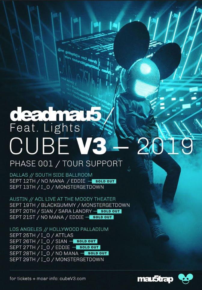 deadmau5 cubev3 tour lineup