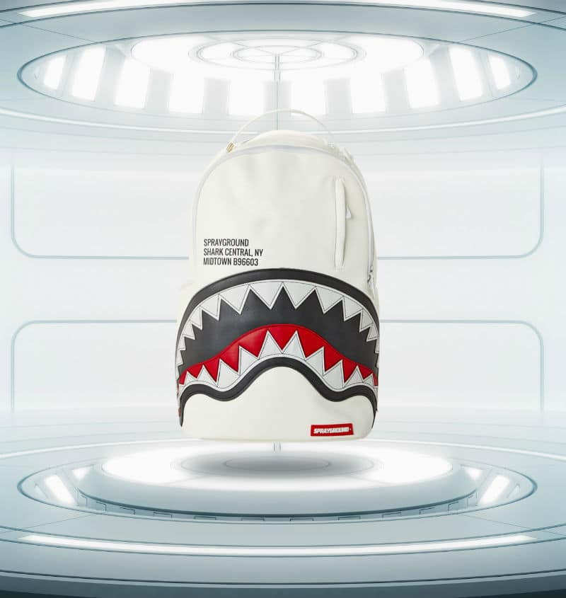 sprayground backpack afrojack afroshark