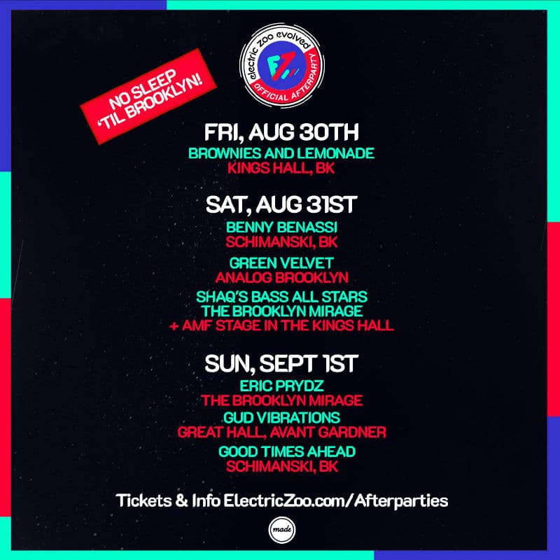 electric zoo 2019 afterparties