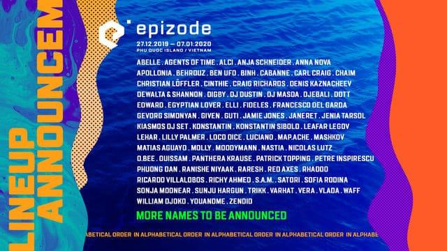 epizode vietnam lineup 2019