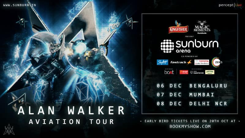 Alan Walker india tour december 2019