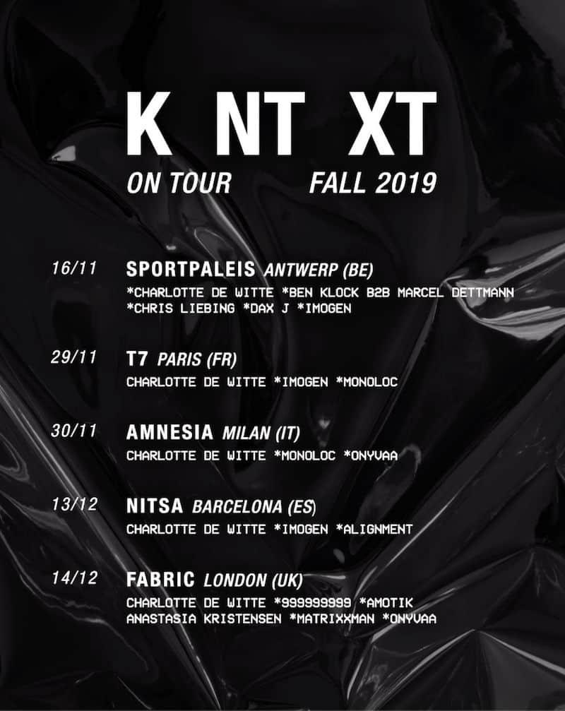 charlotte de witte europe tour 2019