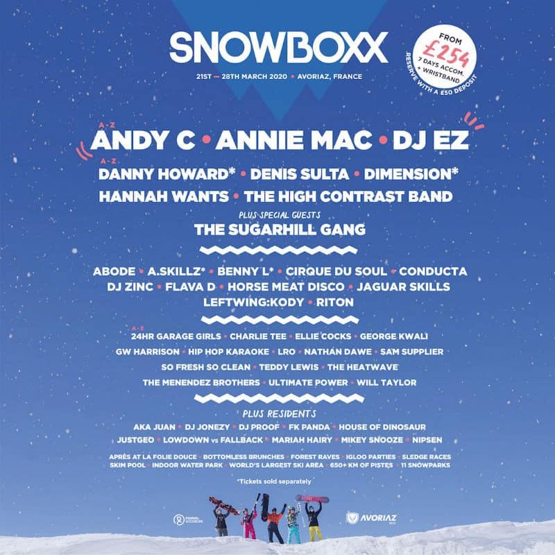 snowboxx lineup 2020