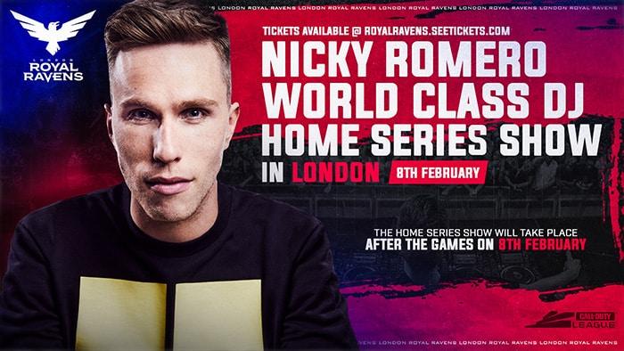 call of duty event london - nicky romero