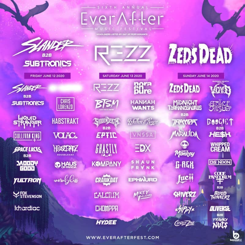 ever after music festival lineup 2020