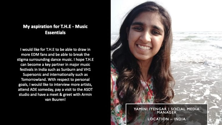 Yamini Iyengar - Social Media Manager | T.H.E - Music Essentials