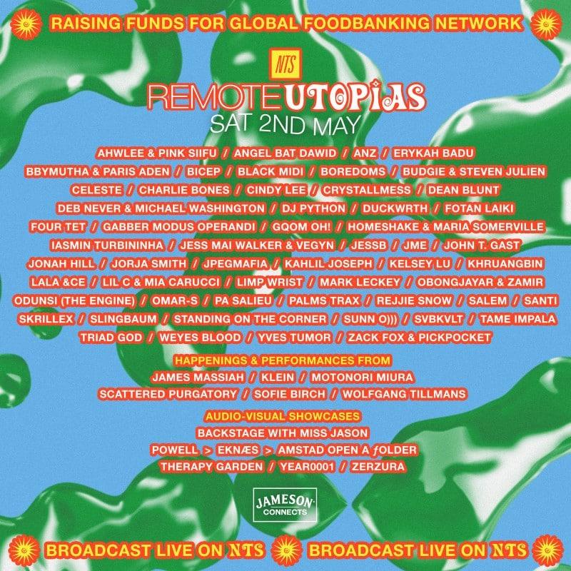 remote utopias lineup - may 2, 2020