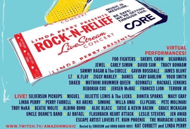 rock n relief livestream concert 2021 lineup